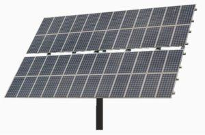 Impianto fotovoltaico con moduli ad inseguimento solare